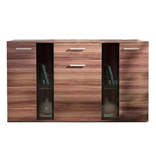 JUSTyou Salsa LED Kommode Sideboard Schrank (HxBxT): 140x80x40 cm Pflaume