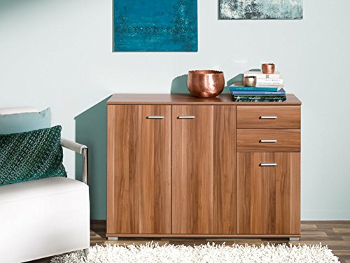 sideboard nussbaum furniert oder ge lt. Black Bedroom Furniture Sets. Home Design Ideas