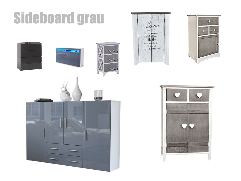 sideboard grau hochglanz oder matt. Black Bedroom Furniture Sets. Home Design Ideas