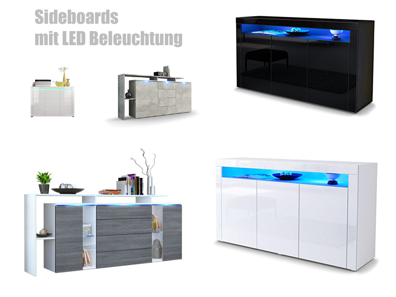 sideboard mit led beleuchtung kaufen. Black Bedroom Furniture Sets. Home Design Ideas