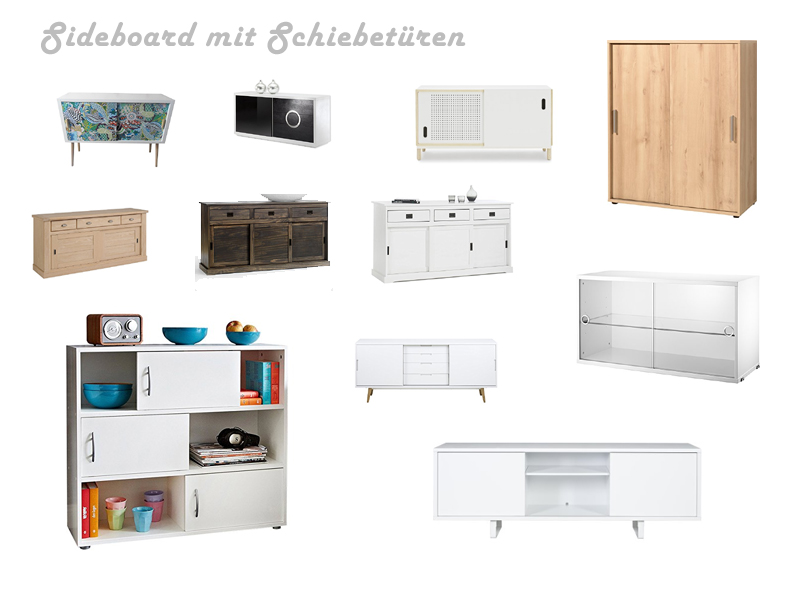 sideboard mit schiebet ren schubladen. Black Bedroom Furniture Sets. Home Design Ideas