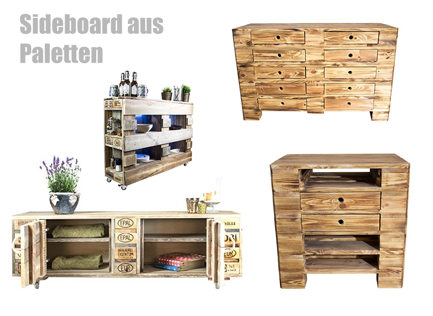 sideboard aus paletten. Black Bedroom Furniture Sets. Home Design Ideas